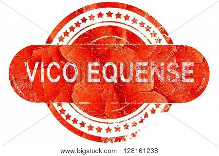 Vivo equense, vintage old stamp with rough lines and edges