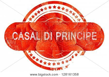 casal di principe, vintage old stamp with rough lines and edges