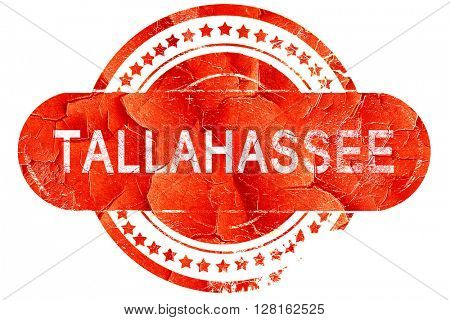 tallahassee, vintage old stamp with rough lines and edges
