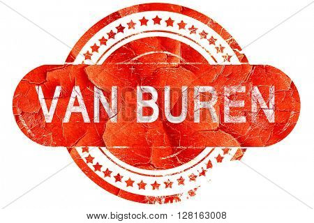 van buren, vintage old stamp with rough lines and edges