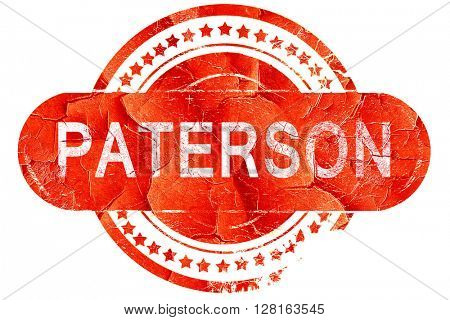 paterson, vintage old stamp with rough lines and edges