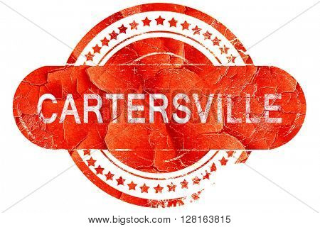 cartersville, vintage old stamp with rough lines and edges