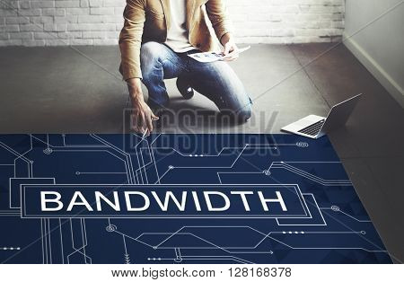 Bandwidth Internet Online Connection Technology Concept