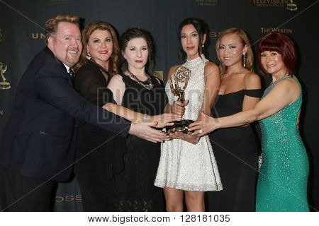 LOS ANGELES - APR 29:  Young and Restless Hair team - Creative Emmy Winners at the 43rd Daytime Emmy Creative Awards at the Westin Bonaventure Hotel  on April 29, 2016 in Los Angeles, CA