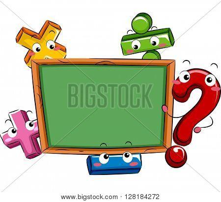 Mascot Illustration Featuring Mathematical Symbols