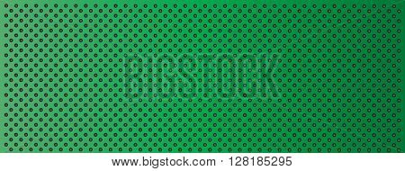 High resolution concept conceptual green  metal stainless steel aluminum perforated pattern texture mesh banner background
