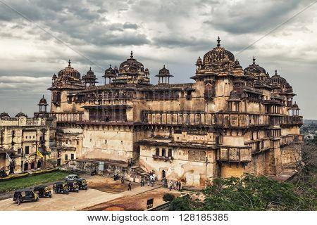 Jehangir Mahal citadel in Orchha , India