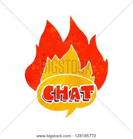 freehand retro cartoon chat symbol