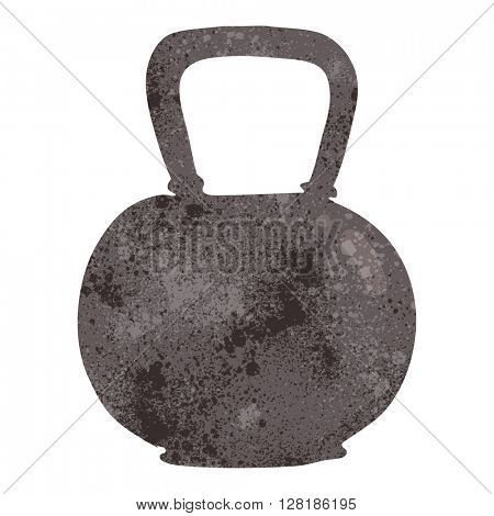 freehand retro cartoon 40kg kettle bell weight