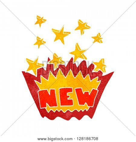 freehand retro cartoon NEW symbol