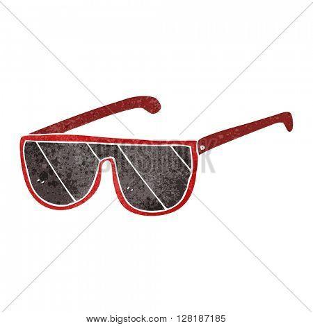 freehand retro cartoon sunglasses