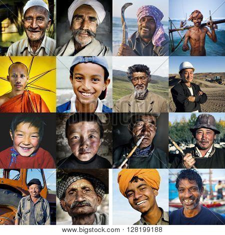 Diversity Multi-ethnic Asian Culture Concept