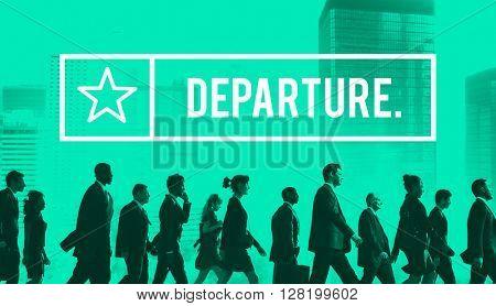 Departure Airport Destination Depart Deviation Concept