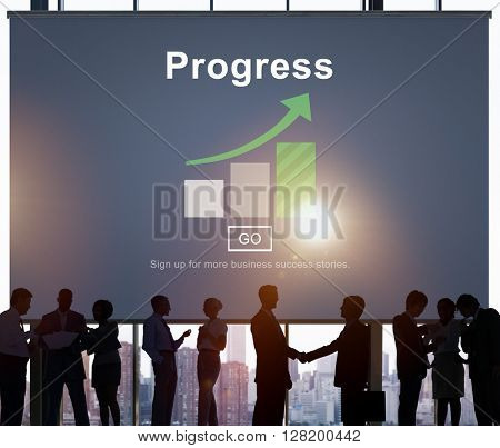 Progress Development Improvement Advancement Concept poster