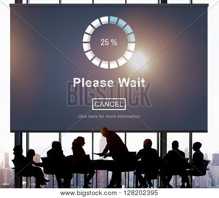 Please Wait Loading Weitng Transfer Anticipation Concept