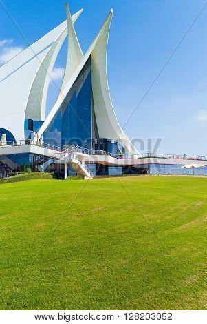 Dubai U.A.E. - February 15 2007: The architecture of the club house of the Creek Golf 2007: The club house of the Creek Golf
