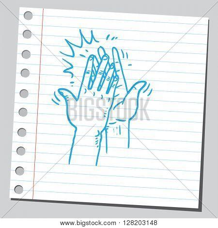 High five hands