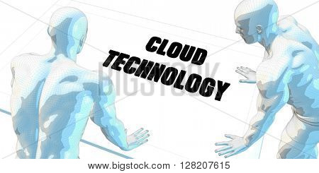 Cloud Technology Discussion and Business Meeting Concept Art 3D Illustration Render