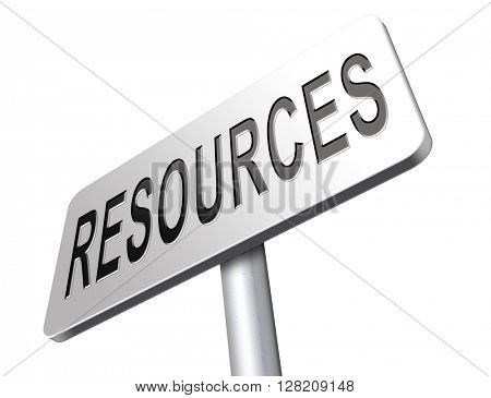 Resources human or natural resource road sign billboard