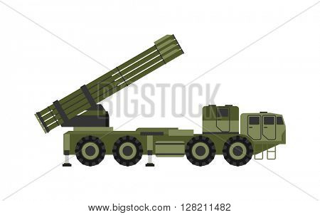 Military rocket launcher vector illustration