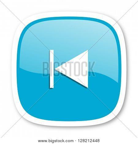 prev blue glossy icon