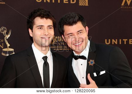 LOS ANGELES - MAY 1:  Freddie Smith, Christopher Sean at the 43rd Daytime Emmy Awards at the Westin Bonaventure Hotel  on May 1, 2016 in Los Angeles, CA