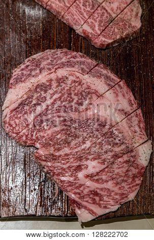 Freshness Japanese wagyu A5 Beef BBQ yakiniku