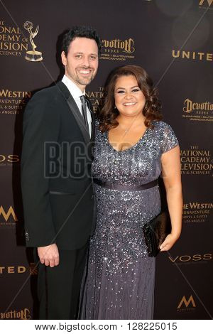 LOS ANGELES - MAY 1:  Brian McDaniel, Angelica McDaniel at the 43rd Daytime Emmy Awards at the Westin Bonaventure Hotel  on May 1, 2016 in Los Angeles, CA