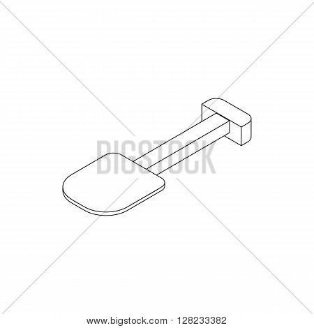 Multifunction spade icon in isometric 3d style on a white background