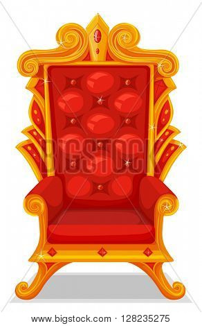 Throne made of gold illustration