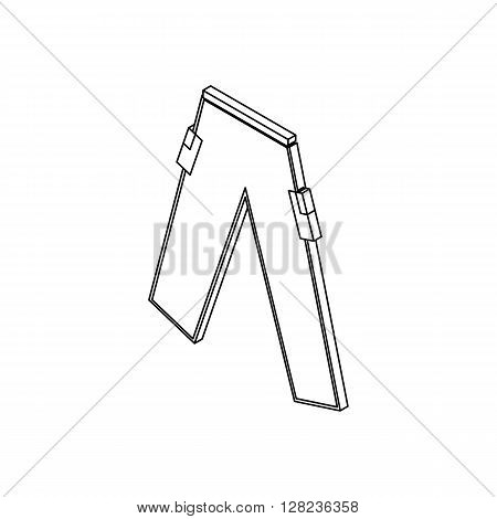 Paintball trousers icon in isometric 3d style isolated on white background