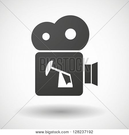 Isolated Cinema Camera Icon With A Horsehead Pump