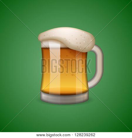 Mug of beer icon, emoticon, emoji, vector illustration.