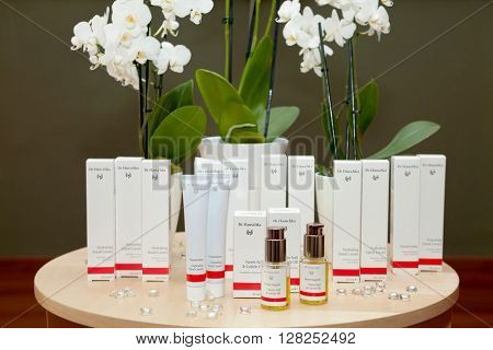ZAGREB, CROATIA - APRIL 21th, 2016: Dr Hauschka hand care products are presented in Zagreb, product shot