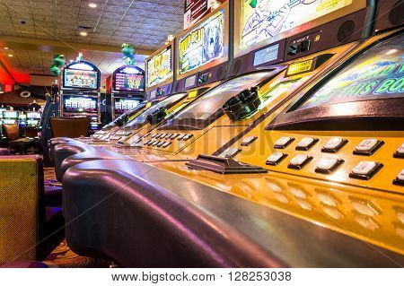 Las Vegas, Usa - October 1, 2012: Game Machines Inside The Orleans Casino.