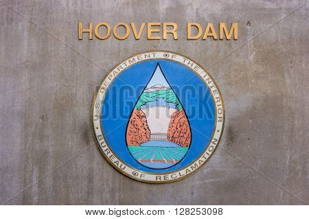Las Vegas, USA - October 2, 2012: Hydroelectric power plant named Hoover Dam Nevada USA
