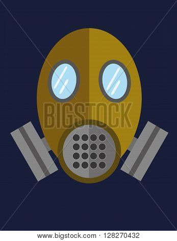 Gas mask or breathing apparatus equipment for hazardous environments