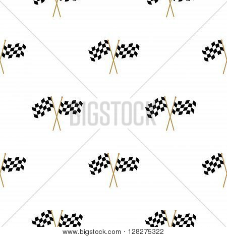 Simple checkered Flags Finish Flag seamless pattern