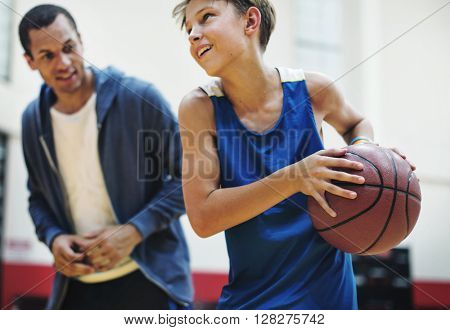 Coach Team Athlete Basketball Bounce Sport Concept