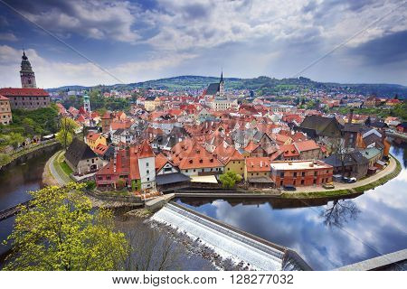 Cesky Kromlov, Czech Republic. Image of Cesky Krumov and Krumlov Castle.
