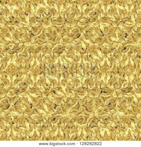 Interlace Stylized Floral Seamless Pattern