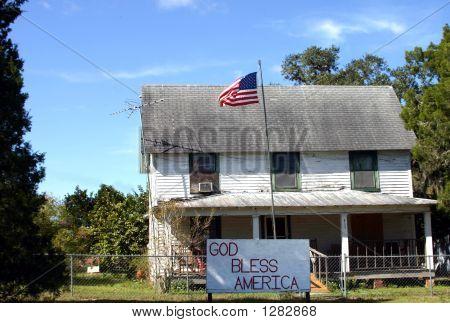 God Bless America House