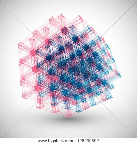 Abstract Lines Cube Vector Element