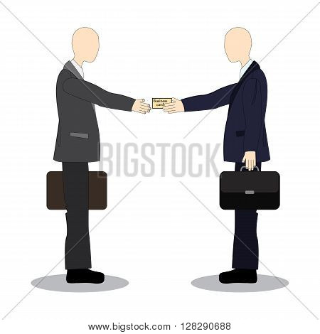 Presenting business cards. Greeting business colleagues. Business etiquette.