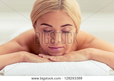 Beautiful Girl At Spa