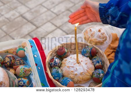 Gomel Belarus May 1, 2016: Easter Sunday At The Cathedral Of St. Nicholas. Orthodox Religious Holida
