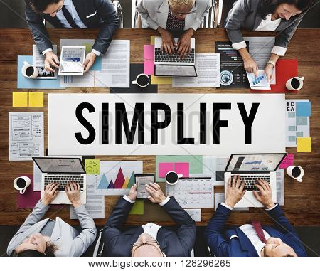 Simplify Business People Work Communication Concept