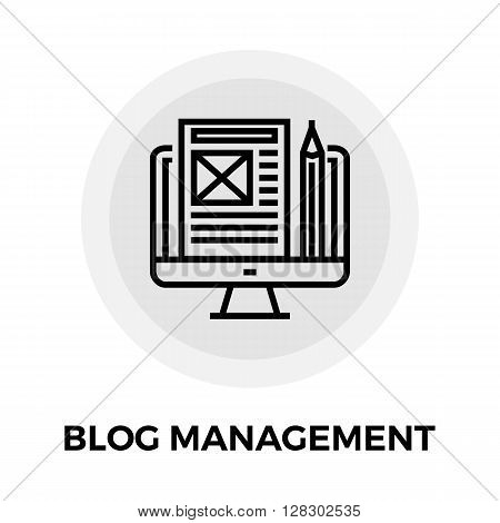 Blog Management Icon Vector. Blog Management Icon Flat. Blog Management Icon Image. Blog Management Line icon. Blog Management Icon JPEG. Blog Management Icon JPG. Blog Management Icon EPS.