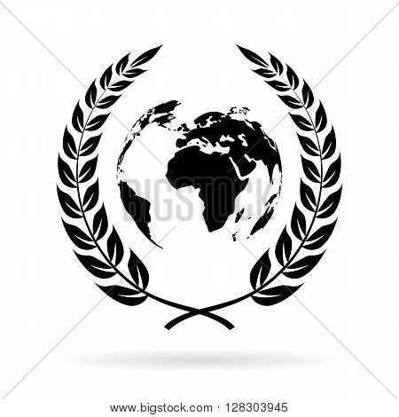 Earth save symbol isolated on white background