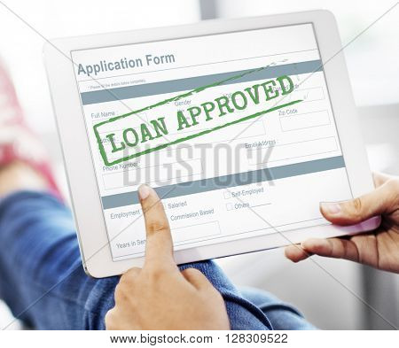 Loan Approved Accepted Application Form Concept poster